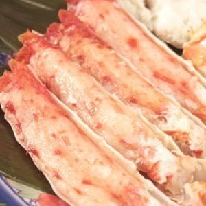「ボイルタラバガニ脚1kg(500g×2肩)」04 太い脚肉をほうばる満足感!迫力!食べ応え満点!!