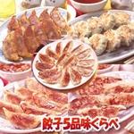 みんなで楽しむ【餃子味くらべB】餃子4種・ニラまん1種、合計5種102個(2650g)