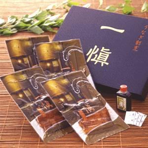 【愛知県産うなぎ使用】うなぎ割烹「一愼」特製うなぎ串蒲焼 約100g×4串(たれ、山椒セット)