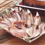 沼津「奧和」のひもの詰合せ5種(10枚)あじ、さんま、かます、金目鯛、えぼ鯛の詳細ページへ