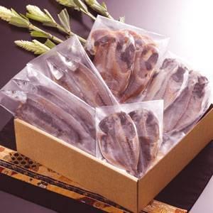 沼津「奧和」のひもの詰合せ5種(10枚)あじ、さんま、かます、金目鯛、えぼ鯛02