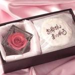【4月27日予約分まで5月9日お届け可能 2010年母の日予約開始】草加煎餅DEお母さんありがとう・一輪のバラの花付