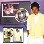 マイケルジャクソン・ゴールドレコード額装 ビートイット