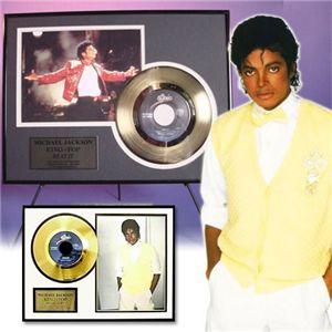 マイケルジャクソン・ゴールドレコード額装 ビリージーン