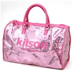 kitson(キットソン) スパンコール ボストンバッグ LEGGAGE SEQUIN TOTE /Pink
