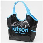 kitson(キットソン) スパンコール ネオンカラーバッグ NEON SEQUIN TOTE BAG /Blue