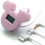 ミッキーシルエットのFMトランスミッター iMusic (ピンク) RX-DNYFMPK