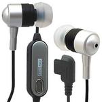 Rix(リックス) 音楽携帯用 ステレオ インナーイヤーヘッドホン ハンズフリー機能付き イヤーピースS/M/L付属 平型携帯用 (シルバー) RX-IHPHFSV 【2個セット】