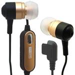Rix(リックス) 音楽携帯用 ステレオ インナーイヤーヘッドホン ハンズフリー機能付き イヤーピースS/M/L付属 平型携帯用 (ゴールド) RX-IHPHFGD 【2個セット】