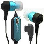 Rix(リックス) 音楽携帯用 ステレオ インナーイヤーヘッドホン ハンズフリー機能付き イヤーピースS/M/L付属 平型携帯用 (ブルー) RX-IHPHFBL 【2個セット】