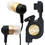 Rix(リックス) 音楽携帯用 ステレオ インナーイヤーヘッドホン 巻き取りコード イヤーピースS/M/L付属 平型携帯用 (ゴールド) RX-IHPRLGD 【2個セット】