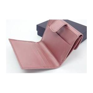 01プラダ/PRADA ナイロン サフィアーノレザー 二つ折り財布(小銭入れあり)/ピンク 1M0523 MIRTILLO MORDER SAFIFANO