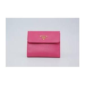 商品写真プラダ/PRADA サフィアーノレザー 二つ折り財布(小銭入れ有)/ピンク 1MO170 BEGONIA SAFFIANO METAL