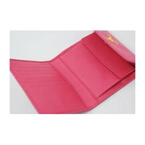 01プラダ/PRADA サフィアーノレザー 二つ折り財布(小銭入れ有)/ピンク 1MO170 BEGONIA SAFFIANO METAL