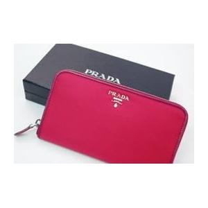 01プラダ/PRADA ナイロン 長財布(小銭入れあり) ピンク/1MO0506 IBISCO+DALIA+SAFFIAN