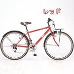 Coleman(コールマン) 27インチ 6段変速 クロスバイク CRB276 レッド