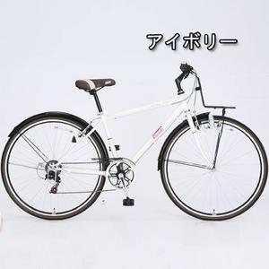 Coleman(コールマン) 27インチ 6段変速 クロスバイク CRB276 アイボリー
