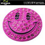 PIXMAGOLF(ピクシマゴルフ) スワロフスキーゴルフマーカー4点セット(Smiley pink)