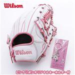 WILSON(ウィルソン) ベア ピンクリボンGLOVE オリジナルキーホルダー付き ホワイト
