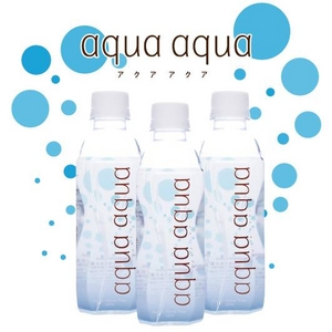 ナチュラルミネラルウォーター aqua aqua 320ml bule 1ケース30本