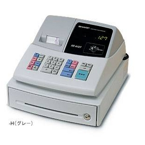 シャープ レジスター XE-A127-H グレー × レジロール紙20巻つき