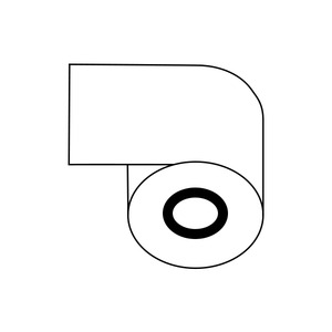 レジロール紙(感熱紙)58mm×80φ×12mm 【20巻】