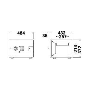 エーコー 耐火金庫 テンキー式 DFS1-E 58kg 【代金引換可能】【時間指定可能】