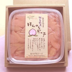 無添加・福島産ももの甘酢漬け「ほんのりピーチ」 450g