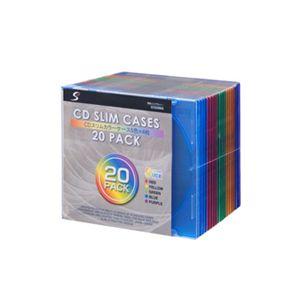 CDケース ECD20MIX 【5色×4枚×10セット】