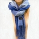 「冬のソナタ」オリジナル・マフラーコレクション 3色ブルー