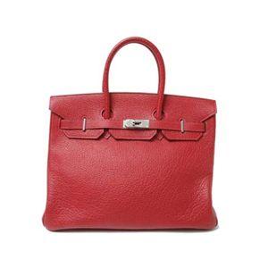 【新品同様】HERMES(エルメス) バッグ バーキン35 ブッフルスキッパー 赤 シルバー金具