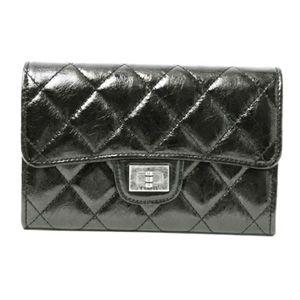 商品画像CHANEL/シャネル メタリックブラック/A35303 2.55 マトラッセ二つ折りミディアム財布