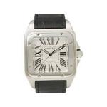 【中古A】Cartier(カルティエ) サントス100 W20073X8 文字盤:ホワイト ベルト:ブラックの詳細ページへ