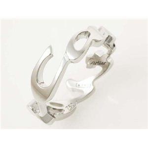 【現品限り】Cartier(カルティエ) シグネチャーリング WG #55 ホワイト 【中古SA】
