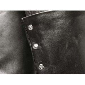 【現品限り】CHANEL(シャネル) ロングブーツ #38 1/2 カーフ ブラック 【中古SA】