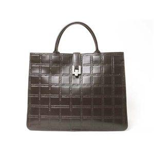 【現品限り】Longchamp(ロンシャン) トートバッグ カーフ ブラウン 【中古AB】