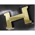 【現品限り】HERMES(エルメス) コンスタンス25 ボックスカーフ 黒 ブラック ゴールド金具 【中古AB】