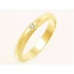 【現品限り】Cartier(カルティエ) ウェディングリング YG 1Pダイヤ #44 B40576【中古SA】