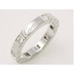 【現品限り】Cartier(カルティエ) ラニエールリング ハーフダイヤ WG #50 【中古SA】