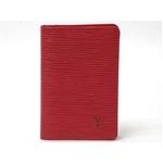 【現品限り】LOUIS VUITTON(ルイヴィトン) エピ カードケース 赤 ルージュ M6358E シルバー刻印 【中古SA】