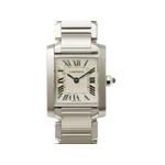 【現品限り】Cartier(カルティエ) タンクフランセーズSM SS レディースクォーツ 時計 W51008Q3 【中古A】