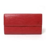 【現品限り】LOUIS VUITTON(ルイヴィトン) エピ ファスナー長財布 赤 M63577 【中古B】