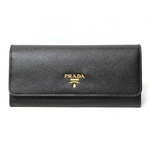 【現品限り・美品】 PRADA [プラダ] ファスナー長財布 1M1132 黒 【未使用】
