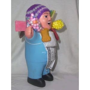 【ペルー産】伝説のエケッコー人形19cm ブルー(ミドルサイズ)