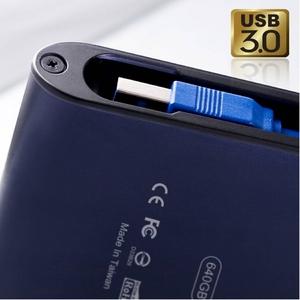 SILICON POWE(シリコンパワー) USB3.0 ポータブルHDD 750GB(BLUE)防水・耐衝撃仕様
