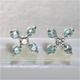 K18WG(18金ホワイトゴールド)パライバトルマリン&ダイヤモンドピアス