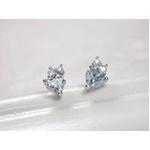 K18WG(18金ホワイトゴールド) アイスブルーダイヤモンドピアス