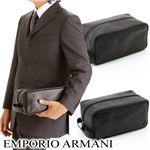 EMPORIO ARMANI(エンポリオアルマーニ) セカンドバッグ YEM438-YC043/80190・【A】DarkBrown