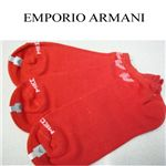 EMPORIO ARMANI(エンポリオアルマーニ) 靴下 レッド