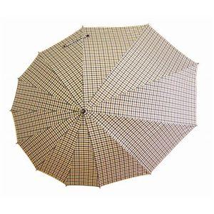 傘 雫 ブラウンチェック (雨傘・日傘)